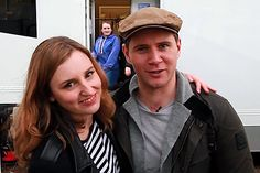 Laura & Allen hangin' out on location. Roaring Twenties, The Twenties, Allen Leech, Laura Carmichael, Julian Fellowes, Dowager Countess, Your Turn, Period Dramas, Downton Abbey