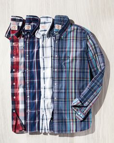 Stay cool in these summer plaids. Baby Boy Dress, Mens Fashion, Fashion Tips, Fashion Design, Indigo Dye, Sports Shirts, Button Down Shirt, Plaid, Summer Dresses