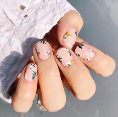 Best Nail Art Designs, Fall Nail Designs, Nail Designs Floral, Summer Pedicure Designs, Simple Nail Designs, Minimalist Nails, Pedicure Nail Art, Gel Nails, Acrylic Nails