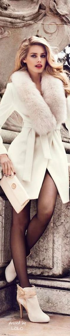 style | winter wear - gorgeous white winter coat