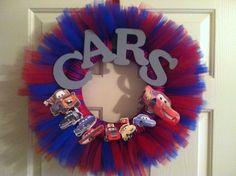 Disney's Pixar Cars Wreath by TACraftShop on Etsy, $42.00