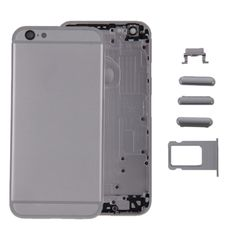 [$43.84] iPartsBuy Full Assembly Replacement Housing Cover for iPhone 6, Including Back Cover & Card Tray & Volume Control Key & Power Button & Mute Switch Vibrator Key & Sign (Grey)