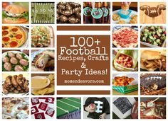 100+ Football ideas! Recipes, crafts, and football party ideas! momendeavors.com