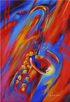 Simon Bull saxophone painting Paint Shop, Saxophone, Painting, Art, Musicals, Bands, Art Background, Painting Art, Kunst