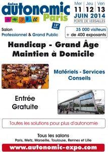 Autonomic est le salon référence de toutes les solutions pour mieux vivre au quotidien http://www.batilogis.fr/agenda/salon-france-2014-1.html