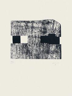 "Eduardo Chillida Sin título , 1994 Aguafuerte monocolor Formato de imagen: 33 x 45,1 cm Perteneciente a la carpeta ""Serie Pi"" Papel: Eskulan 80 x 61 cmtítulo"