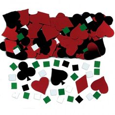 3 x Casino Poker Vegas Playing Card Theme Party Table Confetti Decorations | eBay
