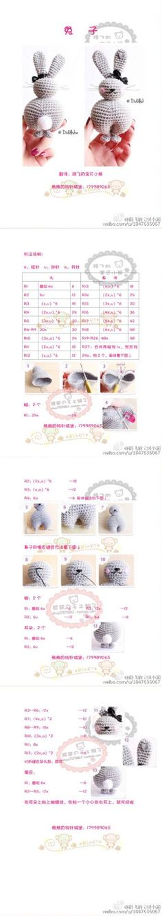 Bunny crochet pattern - Free