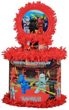 World of Pinatas - Ninjago Personalized Pinata, $39.99 (http://www.worldofpinatas.com/ninjago-personalized-pinata/)