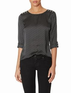 OBR Mini Heart Stud Shoulder Top from THELIMITED.com #ItsTime #TheLimited