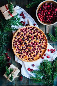 Cranberry Orange Frangipane Tart | Hint of Vanilla