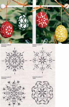 Christmas archives beautiful crochet patterns and knitting patterns – Artofit Crochet Chart, Crochet Motif, Crochet Doilies, Crochet Flowers, Easter Egg Pattern, Easter Crochet Patterns, Doily Patterns, Knitting Patterns, Crochet Stone
