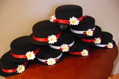 Hats I made for the Mary Poppins Party