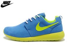 the best attitude 4ee5c df62f 2013 Mens Nike Roshe One Low Anti Fur Waterproof Running Shoes Bright Blue  Lighting Yellow,Nike-Nike Roshe One Shoes Sale Online