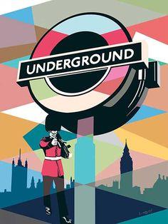 Londres Underground pop art #london #popart