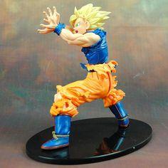 Dragon Ball Z Super Saiyan Goku Kamehameha Action Figure