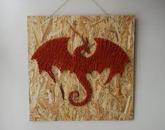 Dragon-String-Kunst aus Holz handgefertigt von FILATURE auf Etsy
