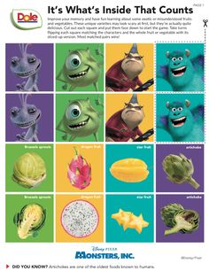 10 Pixar Monsters-Inspired Recipes To Take the Scare Out of Fruits and Vegetables