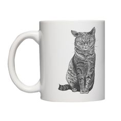 Kubek z kotem klapnięte uszko