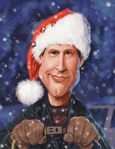 National Lampoon's Christmas Vacation:: Chevy Chase as Clark Griswold. Funny Caricatures, Celebrity Caricatures, Celebrity Drawings, Caricature Artist, Caricature Drawing, Drawing Art, Cartoon Faces, Funny Faces, Cartoon Art