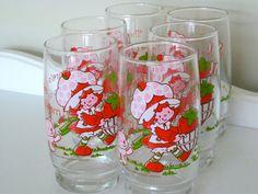 Strawberry Shortcake Vintage Glasses