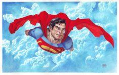 Superman in Gouache by edtadeo.deviantart.com on @deviantART