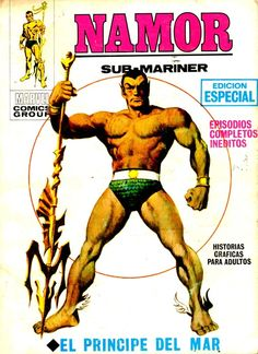 Namor - Sub-Mariner by John Buscema. Marvel Comics Superheroes, Hq Marvel, Disney Marvel, Marvel Heroes, Comic Book Artists, Comic Books Art, Cosplay Dc, Sub Mariner, John Buscema