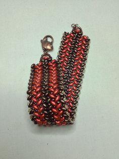 Superduo Herringbone Knit Bracelet By PCV