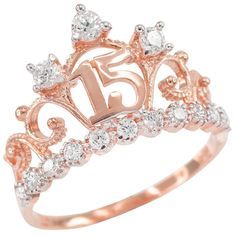 Check this charles and colvard moissanite engagement ring set from Camellia Jewelry. Scrupulously handmade in fine detail, it is a unique wedding ring set that will show her how much you care without breaking the bank. This engagement ring features wh Sweet 15, Morganite Engagement, Rose Gold Engagement Ring, Morganite Ring, Rose Gold Crown Ring, Crown Rings, Halo Rings, Solitaire Engagement, Accesorios Casual