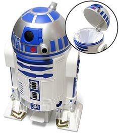 R2 D2 Trashcan.  I almost feel sorry for him, but that's so cool!