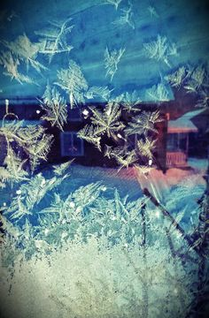 Mirror image in frosted window