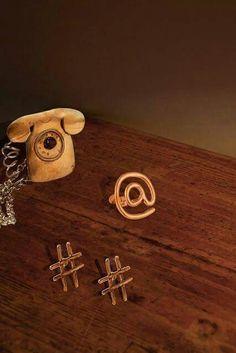 """La nuova collezione """"Sempre in contatto"""" #ciondolo #telefono #anello #chiocciolina  #orecchini  #hashtag"""