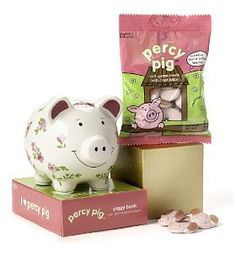 Percy Pig - Ceramic Piggy Bank and Percy Pig Sweets Wine Gifts, Food Gifts, Chocolate Hampers, Old M, Cute Piggies, Inspirational Gifts, Good Old, Piggy Bank, Wine Recipes