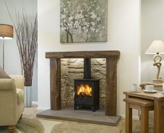 Made to measure inglenook fireplace by Artisan Fireplace Design. Visit our Brighouse fireplace showroom for our stunning collection of Inglenook fireplaces. Log Burner Living Room, Living Room Decor Fireplace, Home Fireplace, Fireplace Design, Living Room Grey, Fireplace Ideas, Fireplace Showroom, Fireplace Suites, Wood Burner Fireplace