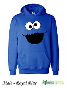 cookie+monster+clothes+for+teen+girls | Cookie Monster Sesame Street Hoodie Kids s XL Royal Blue | eBay