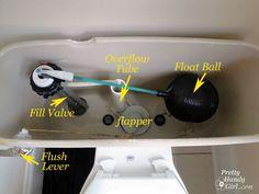 Toilet Repairs - Part 1 - Replacing the Lever - Pretty Handy Girl