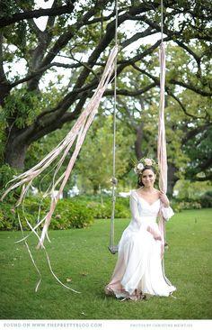 Flowy longsleeve wedding dress