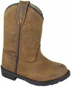 Leather Brown with Fringe Western Cowboy Toddler NEW Smoky Mountain Boots