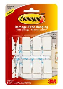 Command(TM) Spring Clip Value Pack: perfect for organizing the kitchen, office or bedroom.