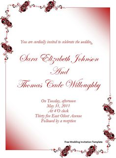 Wedding Invitation Templates | Free Wedding Invitation Template Download Page | Word Templates