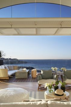amazing use of inside/outside!   Project: Pacific Bondi Beach NSW   Design Practice: SJB Interiors  Photography: Sharrin Rees [Australian Interior Design Awards]