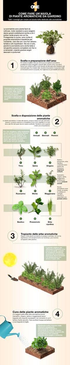 Aiuola erbe aromatiche fai da te!