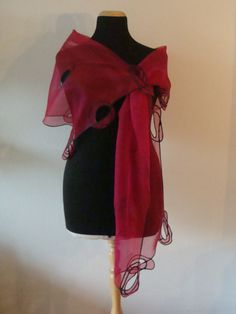 scarf organza silk and latex.  From Noortje Barendswaard