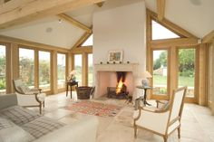 Yiangou Architects is a Traditional and Contemporary Architecture practice based in Cirencester with projects in the UK House Plans, House Design, Building A House, House Interior, House, Open Plan Kitchen Living Room, Great Rooms, Oak Frame House, New Homes