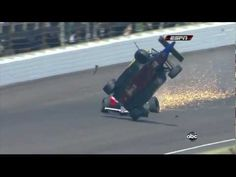 Horrible Crash Mike Conway 2010 Indianapolis 500 Milhas - Acidente Mike Conway Formula Indy - YouTube