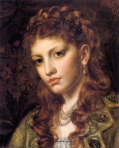 Emma Sandys (English, 1843-1877). Fiammetta, 1876