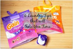 4 Laundry Tips that will save you time #TidePods #GainFlings #client