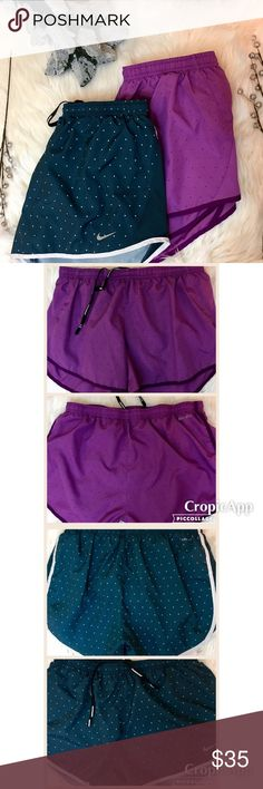 2 Nike Athletic Shorts Dri-Fit polyester athletic shorts w/built in underwear (always worn with additional underwear) Adjustable drawstring  $35 for the pair, or $20 for an individual  one (let me know in comments if interested in individual. I will make a separate listing)   DISCLAIMER - Reasonable offers accepted on items not marked 'price firm' - 15% off on bundles of 2 or more items - I do not discuss prices in the comments, but feel free to ask any other questions Shorts