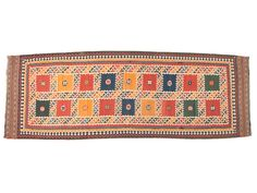Antique Qashqai Kilim - Sharafi and co Vibrant Colors, Colours, Afghan Rugs, Kilim Runner, Persian Rug, Oriental Rug, Vintage Rugs, Weaving, Carpet