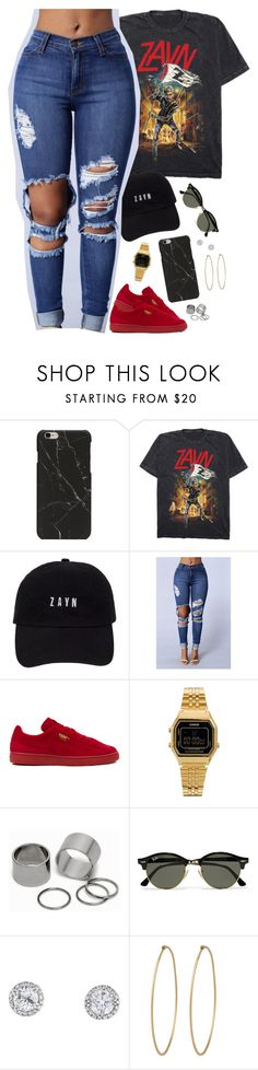 """zayn is daddy"" by daisym0nste ❤ liked on Polyvore featuring Puma, Casio, Pieces, Ray-Ban and Social Anarchy"